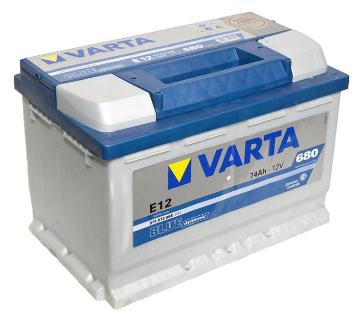 Автомобильный аккумулятор АКБ VARTA (ВАРТА) Blue Dynamic 574 013 068 E12 74Ач ПП