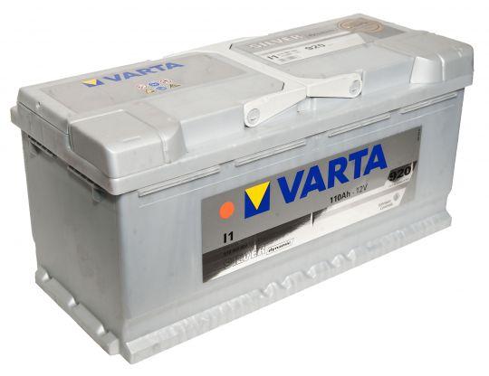 Автомобильный аккумулятор АКБ VARTA (ВАРТА) Silver Dynamic 610 402 092 I1 110Ач ОП