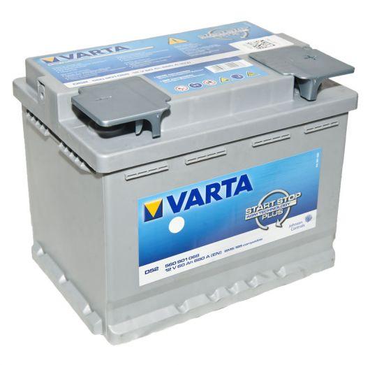 Автомобильный аккумулятор АКБ VARTA (ВАРТА) Start-Stop Plus Silver Dynamic AGM 560 901 068 D52 60Ач ОП