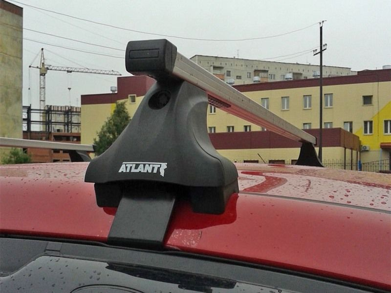 Багажник на крышу на Land Rover Freelander 2, Атлант, прямоугольные дуги