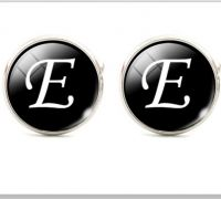 Запонки буква Е