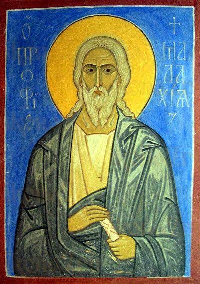 Икона Малахия, пророк (рукописная)