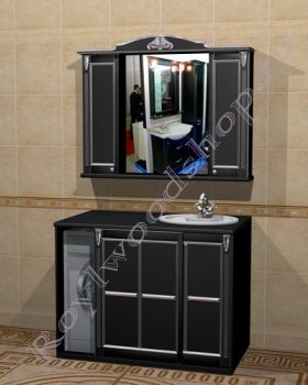 """Мебель для ванной """"Руссильон PROVENCE Комби-L черный"""""""