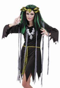 Парик Ведьмы зеленый