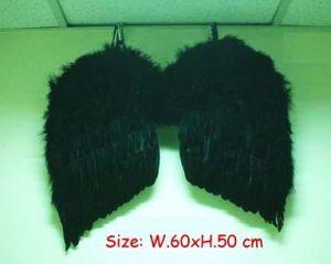 Крылья перьевые черные 60х50 см