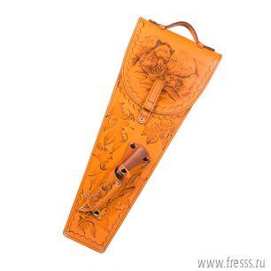 Шампура 6 шт. и универсальный нож в колчане из натуральной кожи