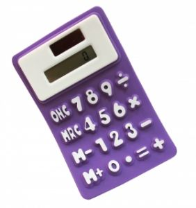 Калькулятор  фиолетовый (можно гнуть, сворачивать трубочкой)