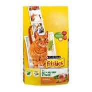 Friskies Сухой корм для домашних кошек Курица и садовая зелень (1,5 кг)