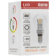 Шар Iteria 4W E14 2700K прозрачный (теплый свет)