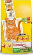 Friskies Сухой корм для стерилизованных кошек и котов Кролик/овощи (1,5 кг)
