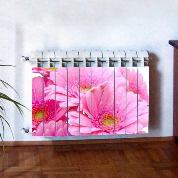"""Фотодекор для радиатора отопления """"Цветы 0003"""""""