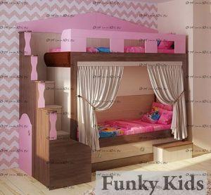 Кровать двухъярусная Фанки Хоум-11002