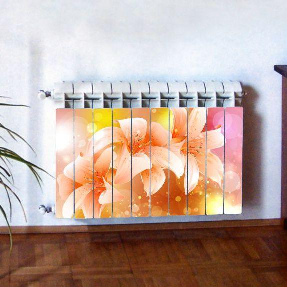 """Фотодекор для радиатора отопления """"Цветы 0009"""""""