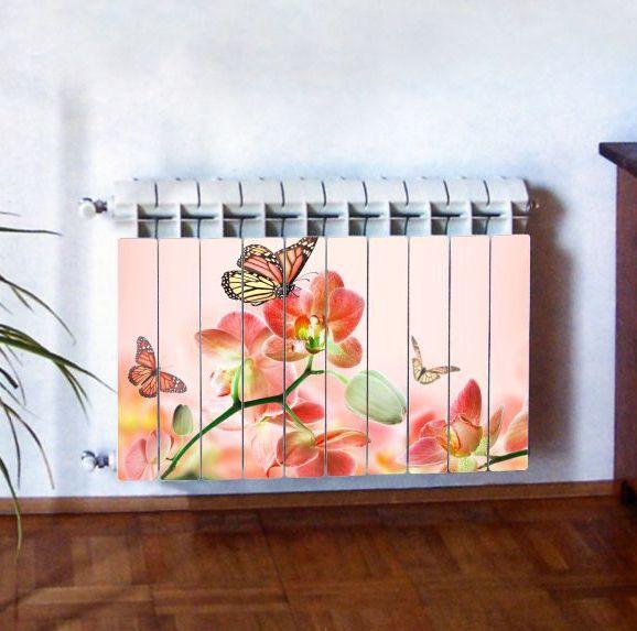 """Фотодекор для радиатора отопления """"Цветы 0010"""""""