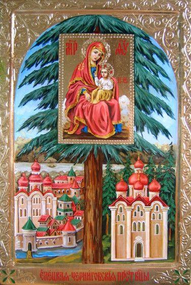 Елецкая Черниговская икона Божией Матери (рукописная)