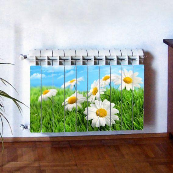 """Фотодекор для радиатора отопления """"Цветы 0011"""""""