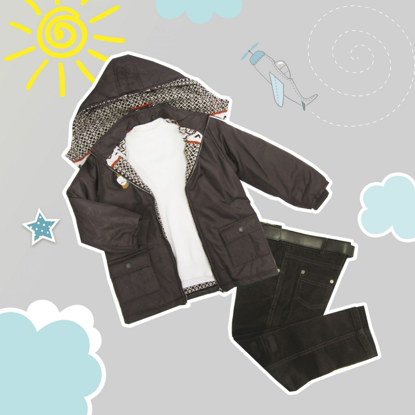 Комплект «Лапландия» (Куртка+свитер+брюки+ремешок)