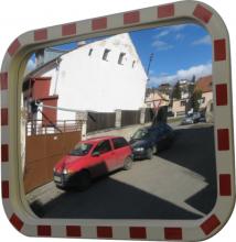Зеркало дорожное со световозвращающей окантовкой прямоугольное (Чехия)