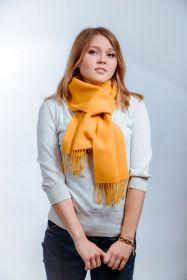 шарф 100% шерсть ягнёнка , расцветка Горчично-Желтый Mustard Yellow,плотность 6
