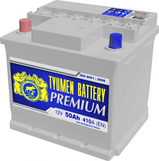 Автомобильный аккумулятор АКБ Тюмень Премиум (TYUMEN BATTERY) PREMIUM 6СТ-50L 50Aч О.П.