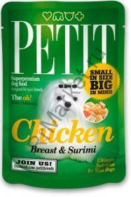 Консервы Brit Petit Pouch для собак мелких пород 80 г. /куриная грудка с рыбой/