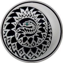 3 рубля 2012 г. Змея со вставкой из камня