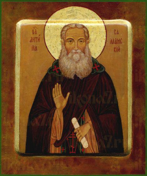 Икона Антипа Валаамский (рукописная)