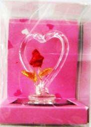 "Фигура ""Сердце с розой"" (на зеркале)"