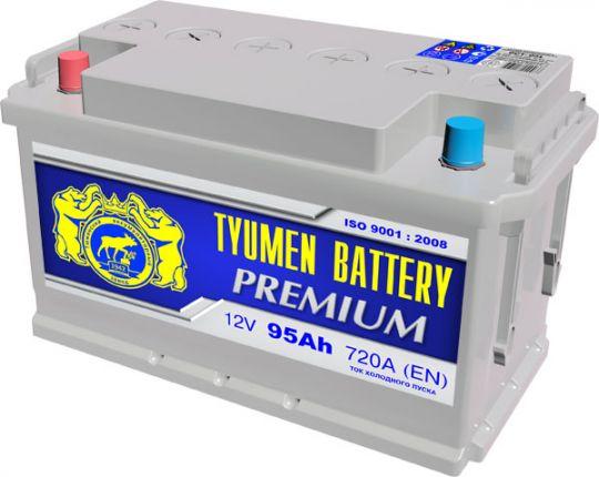 Автомобильный аккумулятор АКБ Тюмень Премиум (TYUMEN BATTERY) PREMIUM 6CT-95L 95Aч О.П