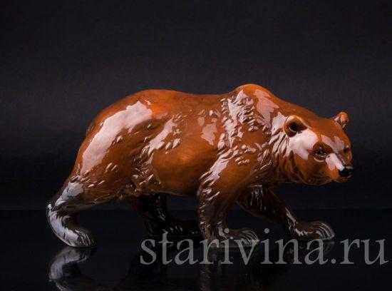 Фарфоровая статуэтка Бурый медведь производства Goebel, Германия