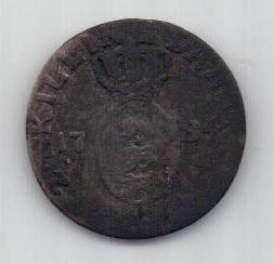 2 скиллинга 1784 г. Дания