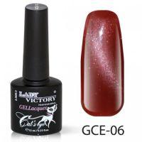 Гель-лак GCE-06 «Кошачий глаз» Lady Victory 7,3 мл.