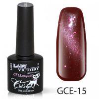 Гель-лак GCE-15 «Кошачий глаз» Lady Victory 7,3 мл.