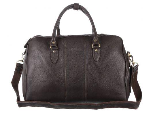 Дорожная сумка Ashwood Leather Westminster Harry Dark Brown