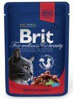 Консервы для кошек Brit Premium Pouch Beef Stew & Peas Говядина и горошек 100 г.