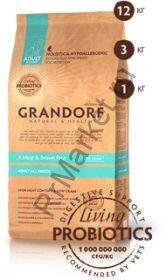 Grandorf 4 Meat & Brown Rice Adult All Breeds, для собак, 4 вида мяса/бурый рис