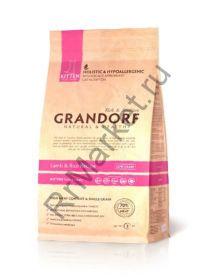 GRANDORF Lamb & Rice Kitten, ягнёнок с рисом для котят