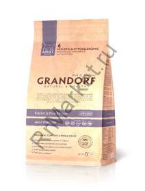 GRANDORF Rabbit & Rice Adult Sterilized, кролик с рисом для стерилизованных кошек