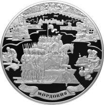 100 рублей 2012 г. 1000-летие единения мордовского народа с народами Российского государства