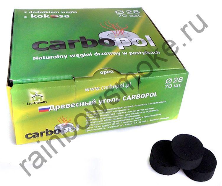 Уголь для кальяна Carbopol Kokosa 28 мм (70 шт)
