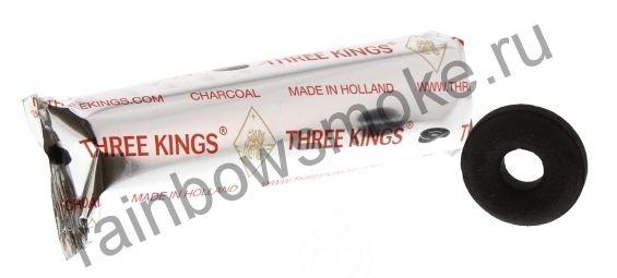 Уголь для кальяна Three Kings RINGS 44 мм (Туба)
