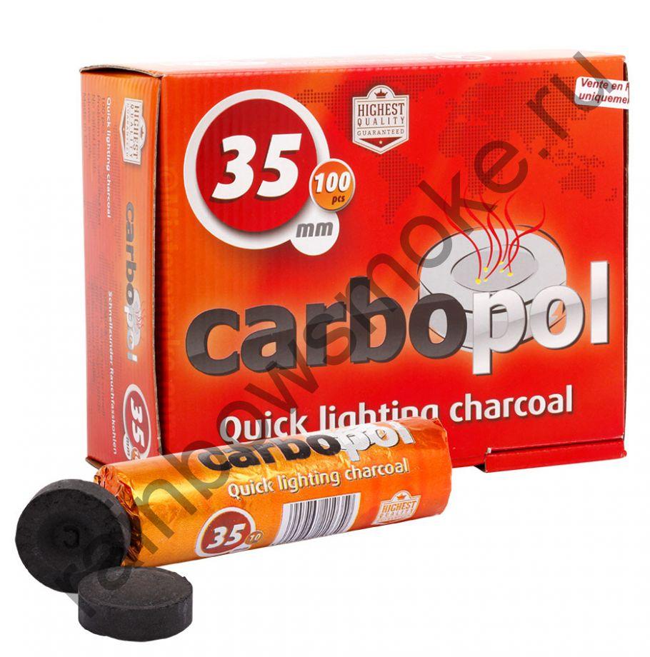 Уголь для кальяна Carbopol 35 мм (Коробка)