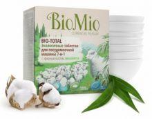 Bio-Mio таблетки для посудомоечной машины Bio-Total с эфирным маслом эвкалипта и экстрактом хлопка 30 шт