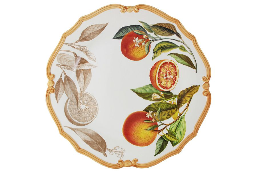"""Блюдо круглое """"Апельсины"""", 37 см"""