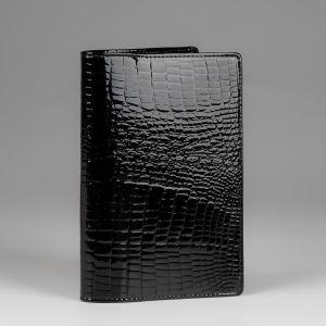 Обложка для паспорта женская 42М6_90103_21_П; кожа; черный
