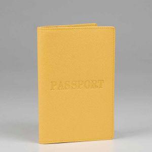 Обложка для паспорта женская 42М6_90044_50_1402П; кожа; желтый