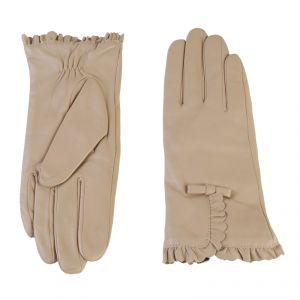 Перчатки женские 02104415344_16; кожа; бежевый (Размер 6,5)
