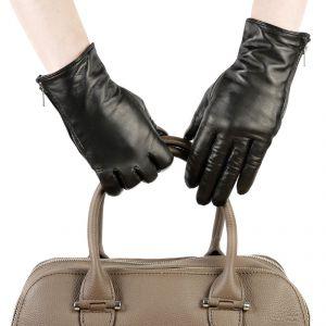 Перчатки женские 27К_40012_10_1309П; кожа; черный (Размер 7)