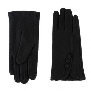 Перчатки женские 02109115227_01; шерсть/акрил; черный (Размер M)