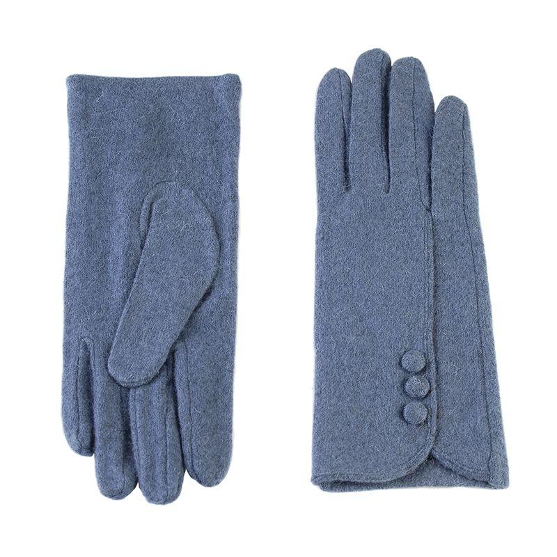 Перчатки женские 02109115227_51; шерсть/акрил; синий (Размер M)